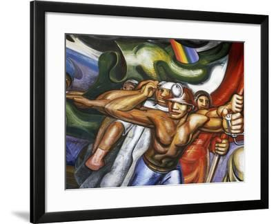 Procession of Men and Women--Framed Giclee Print