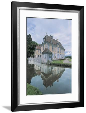 Reflection of a Castle in Water--Framed Photographic Print