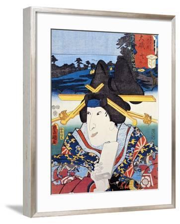 Portrait of Kabuki Theatre Actress--Framed Giclee Print
