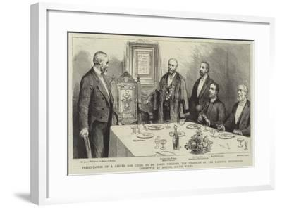 Presentation of a Carved Oak Chair to Dr James Williams--Framed Giclee Print