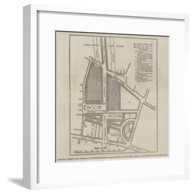 Proposed Central City Turminus--Framed Giclee Print