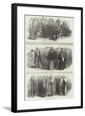 Presentation to the Queen of the Addresses from the City of London--Framed Giclee Print