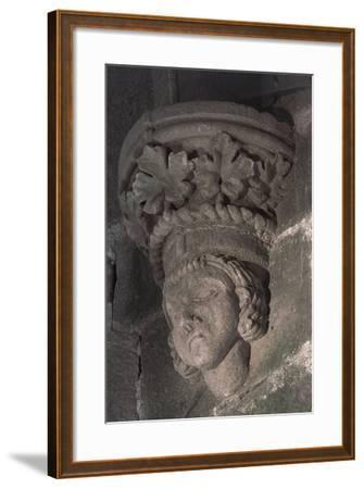 Relief in Form of a Male Head with a Crown of Grape Leaves--Framed Photographic Print