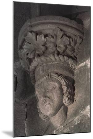 Relief in Form of a Male Head with a Crown of Grape Leaves--Mounted Photographic Print
