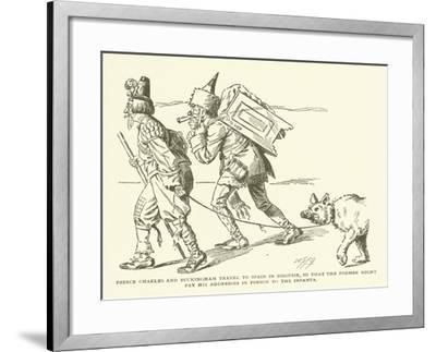 Prince Charles and Buckingham Travel to Spain in Disguise--Framed Giclee Print