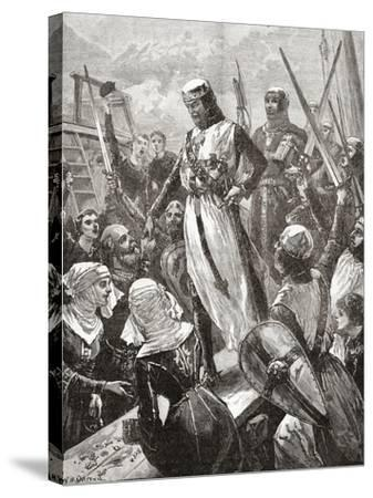 Reception of Richard in 1194--Stretched Canvas Print