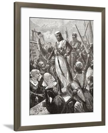 Reception of Richard in 1194--Framed Giclee Print