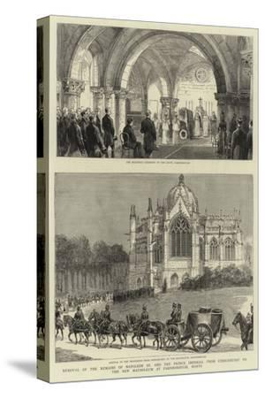 Removal of the Remains of Napoleon III and the Prince Imperial from Chislehurst to the New Mausoleu--Stretched Canvas Print