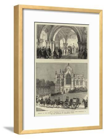 Removal of the Remains of Napoleon III and the Prince Imperial from Chislehurst to the New Mausoleu--Framed Giclee Print