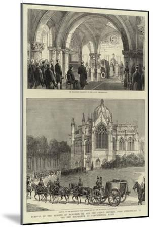 Removal of the Remains of Napoleon III and the Prince Imperial from Chislehurst to the New Mausoleu--Mounted Giclee Print