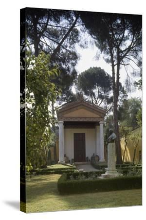Reconstruction of an Etruscan Temple in the Courtyard of the New Wing of Villa Giulia--Stretched Canvas Print