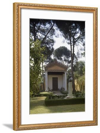 Reconstruction of an Etruscan Temple in the Courtyard of the New Wing of Villa Giulia--Framed Photographic Print