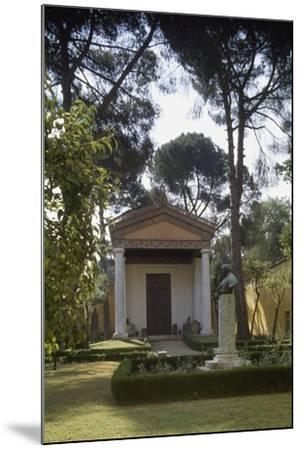 Reconstruction of an Etruscan Temple in the Courtyard of the New Wing of Villa Giulia--Mounted Photographic Print