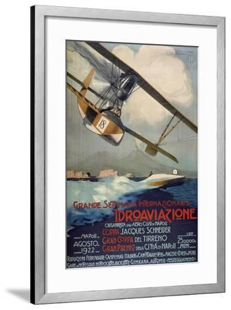 Poster for International Week of Hydro-Airplanes (Schneider Cup--Framed Giclee Print