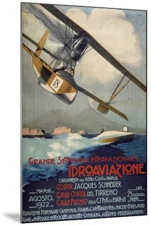 Poster for International Week of Hydro-Airplanes (Schneider Cup--Mounted Giclee Print