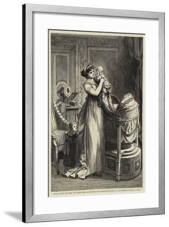 Queen Louise with Her Two Eldest Sons--Framed Giclee Print