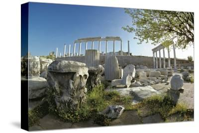 Ruins of Ancient Pergamum Acropolis--Stretched Canvas Print