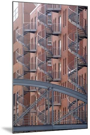 Spiral Staircases on Facades of Some Former Warehouses Destined for Repurposing--Mounted Photographic Print
