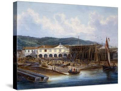 Ship Construction in San Rocco Shipyard--Stretched Canvas Print