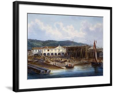 Ship Construction in San Rocco Shipyard--Framed Giclee Print