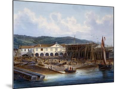 Ship Construction in San Rocco Shipyard--Mounted Giclee Print