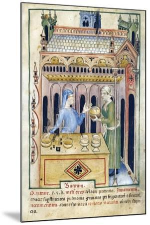 Shop with Butter Bread and Two Women from Tacuinum Sanitatis--Mounted Giclee Print