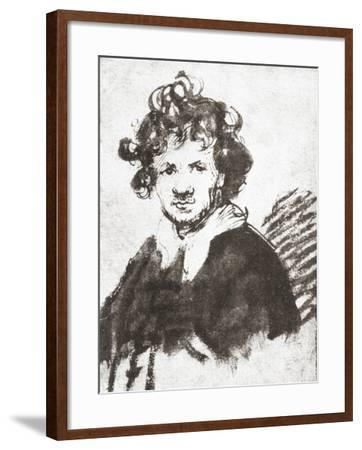 Self Portrait of Rembrandt Harmenszoon Van Rijn--Framed Giclee Print
