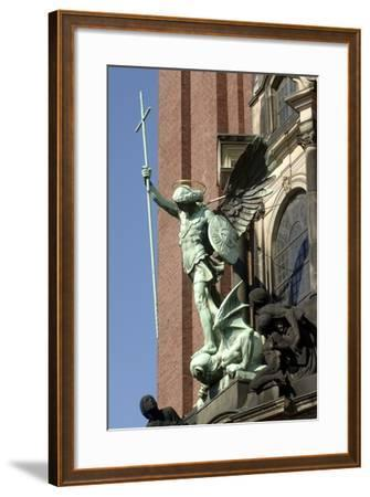 St Michael Defeating Devil--Framed Photographic Print