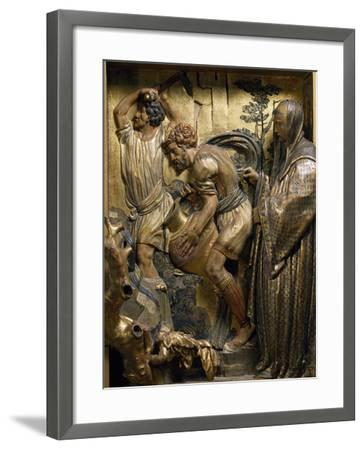 Saint Benedict Originates Water Spring in Subiaco--Framed Giclee Print