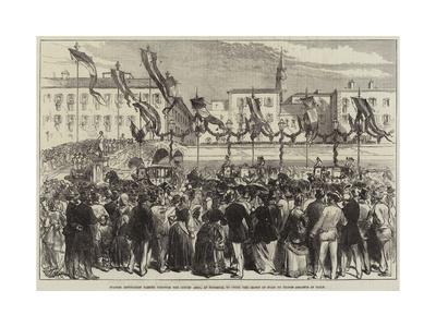 Spanish Deputation Passing Through the Lungh' Arno--Framed Giclee Print
