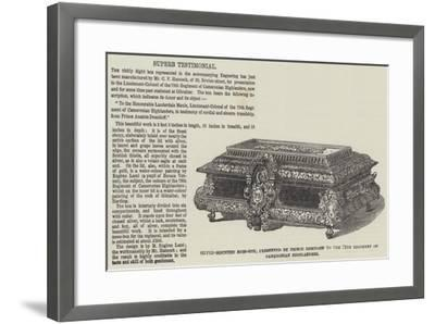 Silver-Mounted Mess-Box--Framed Giclee Print
