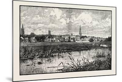 Stamford Is a Town and Civil Parish on the River Welland in the South Kesteven District of the Coun--Mounted Giclee Print