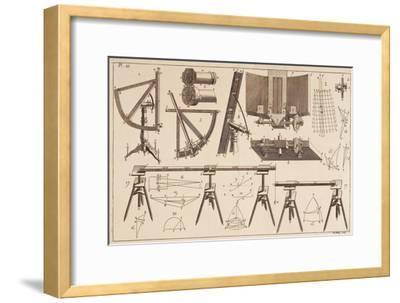 Survey Tools--Framed Giclee Print