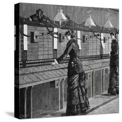 Telephone Operators of Italo-American Public Phone Service--Stretched Canvas Print
