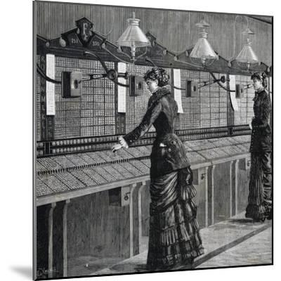 Telephone Operators of Italo-American Public Phone Service--Mounted Giclee Print