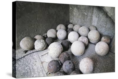 Stone and Iron Cannonballs--Stretched Canvas Print