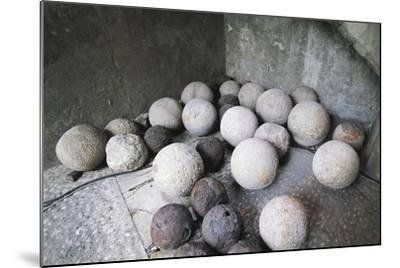 Stone and Iron Cannonballs--Mounted Photographic Print