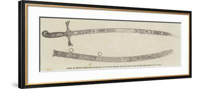 Sword of Honour Presented to General Sir William Fenwick Williams--Framed Giclee Print