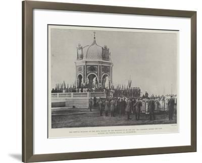 The Annual Blessing of the Neva Waters on the Breaking-Up of the Ice--Framed Giclee Print