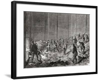 Storing the Ice at Mr Charles' Ice Stores--Framed Giclee Print