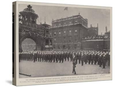 The Canadian Coronation Contingent Celebrating Dominion Day in London--Stretched Canvas Print