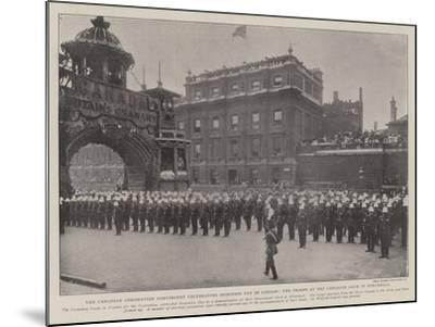 The Canadian Coronation Contingent Celebrating Dominion Day in London--Mounted Giclee Print