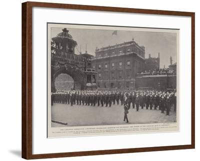 The Canadian Coronation Contingent Celebrating Dominion Day in London--Framed Giclee Print