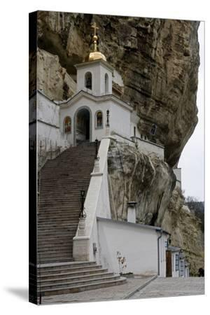 The Bell Tower of the Dormition (Assumption) Cave Monastery--Stretched Canvas Print