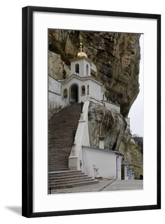 The Bell Tower of the Dormition (Assumption) Cave Monastery--Framed Photographic Print