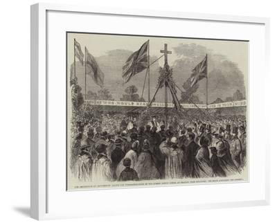 The Archbishop of Canterbury Laying the Foundation-Stone of the Surrey County School at Cranley--Framed Giclee Print