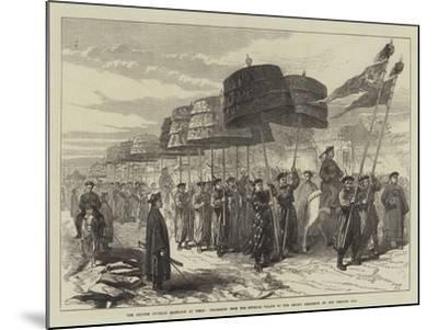 The Chinese Imperial Marriage at Pekin--Mounted Giclee Print