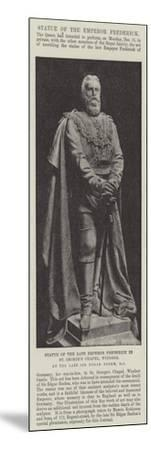 Statue of the Late Emperor Frederick in St George's Chapel--Mounted Giclee Print