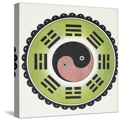 Taoist Symbol of Yin and Yang--Stretched Canvas Print