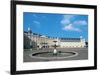 The Fountain in Karlsruhe Palace Courtyard--Framed Photographic Print